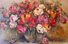 Neal Art, Florals, Roses, Paintings, Floral, Pink, Paint, Flowers, Painting Art