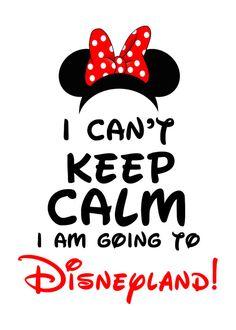 Disney Minnie Mouse I can't keep calm I'm going by XochitlMontana