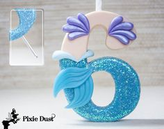 Little Mermaid Candle Holder Cake Topper
