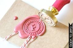 That's it - we need to bring back wax seals on thank you notes.