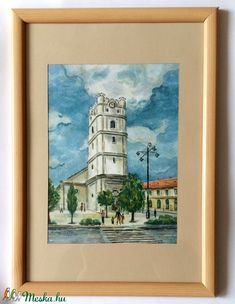 A debreceni Csonka templom (Nana83) - Meska.hu Frame, Painting, Decor, Art, Dekoration, Art Background, Decoration, Frames, Painting Art