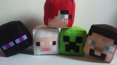 Personagens Minecraft Feltro