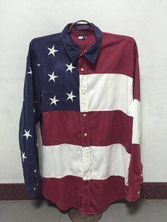 Vintage Tommy Hilfiger USA Flag Stars & Stripes Bars by Nuprim14