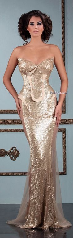 Mireille Dagher Spring Summer 2013 Ready to Wear... its a bit daring for a bride but its so mermaidy