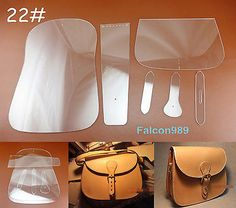 6pcs Leather Craft Acrylic Saddle Package Pattern Stencil Template Tool Set