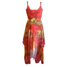 Alexander McQueen Rare Parrot Dress Spring 03 sz 42   From a collection of rare vintage evening dresses at https://www.1stdibs.com/fashion/clothing/evening-dresses/