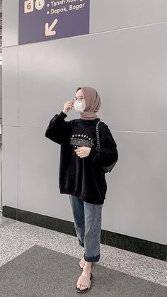Casual Hijab Outfit, Ootd Hijab, Cute Casual Outfits, Modern Hijab Fashion, Hijab Fashion Inspiration, Fashion Outfits, Dress, Clothes, Fashion Clothes