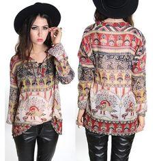 VINTAGE hippie shirt!! Love it!