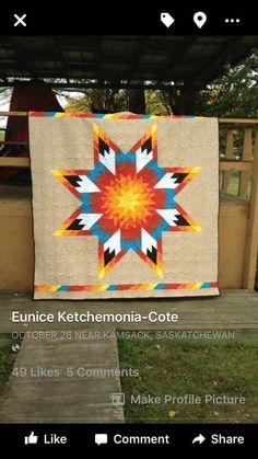 eunice ketchemonia-cote star quilt