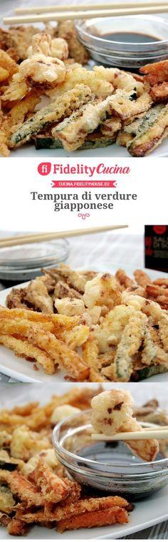 Tempura di verdure giapponese I Love Food, Good Food, Yummy Food, Antipasto, China Food, Delicious Dinner Recipes, International Recipes, Japanese Food, Italian Recipes