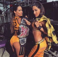 WWE Divas Champion Nikki Bella & Brie Bella