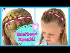Haarband Spezial✿(Teil 2)geflochtenes Haarband ✿Flechtfrisur für Mädchen - YouTube