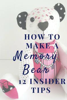 make a memory bear pin