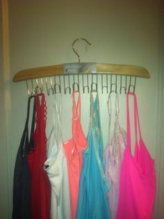 Clever container belt hanger can be used for belts, cami, scarves... http://www.mycleverbiz.com/BethToney