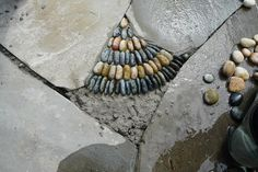 Jeffrey Bale Pebble Mosaic - JULIA - NO MORE TRYING TO FIND ROCKS! WE CAN MAKE THEM OUT OF PEBBLES!!