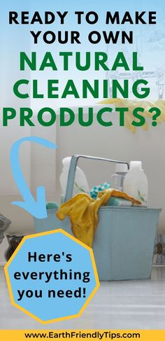 If you're ready to ditch those toxic store-bought cleaners and start making your own homemade natural cleaning products, here's the one-stop place to get everything you need. This list of the all ingredients and supplies you need to make natural cleaning products will make natural living even easier. #ecofriendly #natural #cleaning #homemade