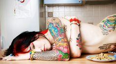 Hot Tattoo Girls Designs
