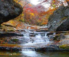 지리산 피아골 Waterfall, Korea, Places, Outdoor, Beauty, South Korea, Outdoors, Waterfalls, Outdoor Games