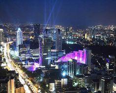 Beşiktaş (Levent District) at night, İstanbul, Türkiye