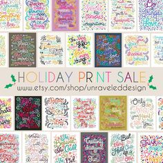 Unraveled Design: Enjoy 25% off all prints with code HOLIDAY25, Thanksgiving Day through Monday!