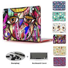 Unique Cute Owl Flower Cover Shell For Print Case Macbook Air 11 13 Mac book Pro 13 15 Retina New retina 12 inch + 2 Girls