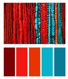 Aztec Empire Turquoise And C Red Color Combinations Schemes