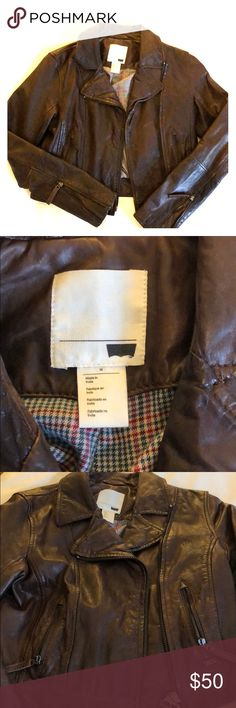 Levis Genuine Leather Jacket Distressed brown Levi's bomber jacket. Worn once Levi's Jackets & Coats