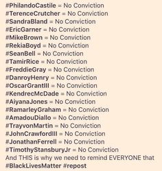 Good to have a list, as it's easy to lose track with the string of highly publicized  police shootings in recent years.