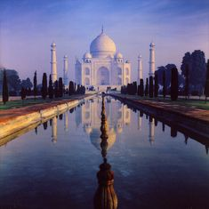 Taj Mahal. India is definitely one of the places I want to see before I die.