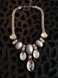 Silver Diamond Drop Necklace for sale at Glamhairus.com