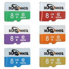 Bestrunner 8GB Class 10 Colorful Digital Flash Memory Card TF Card