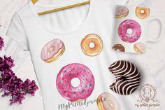 Donuts #tshirt #design #mug #pillow #watercolor #designer #art #illustration…