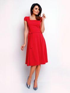 d64a5cbe75f8 Dámské šaty FOGGY - bledě červená Fit Flare Dress