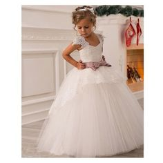 86f15c27188 Robe ceremonie princesse fille Robe Blanche Fillette