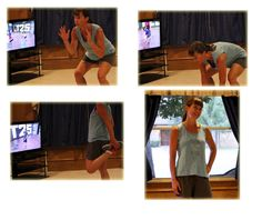 some photos doing T-25 Total Body Circuit on week 4, day 4.  Tough workout for sure www.kimberleeskorner.com/blog  http://www.100lbcountdown.com/health-and-wellness/fitness-fridays-15-just-cant-get-enough/