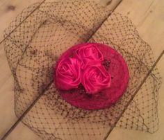 Black and Rose fascinator for a wedding in Poland