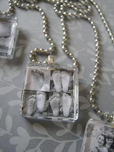 glass tiles, diamond glaze, bailes, super glue,  chain