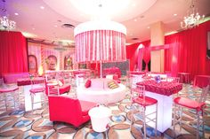 White Bat Mitzvah Lounge Area - mazelmoments.com