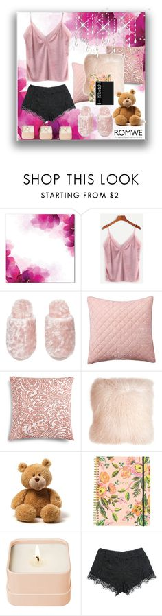 """""""ROMwe. When it rains outside."""" by natalyapril1976 ❤ liked on Polyvore featuring Pottery Barn, Charter Club, Pillow Decor, Rifle Paper Co, Henri Bendel, Sans Souci, look, romwe and Home"""