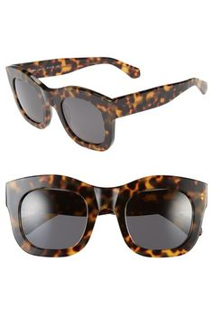 Women's Illesteva 'Hamilton' 49mm Retro Sunglasses - Tortoise