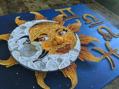 Celestial Sun & Moon - Quilling Paper Craft by Ginger Evenson Arts