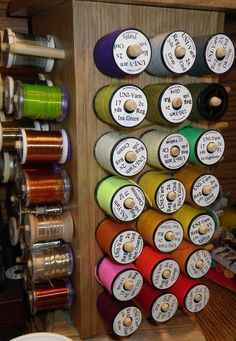 fly tying spool organizer I soooo need one of these!!