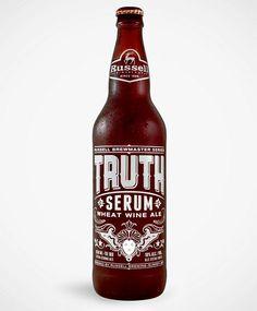 Truth Serum wine ale packaging by Atmosphere Design Beer Bucket, Beer Label Design, More Beer, Beer Brands, Bottle Packaging, Best Beer, Beer Lovers, Bottle Design, Beer Bottle