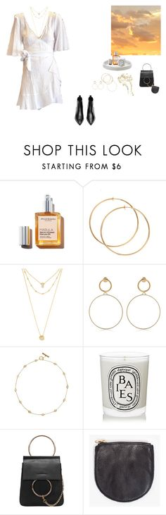 """Dreamy"" by emmamcknight ❤ liked on Polyvore featuring Lipstick Queen, BaubleBar, Maria Francesca Pepe, Tory Burch, Diptyque, BAGGU and Acne Studios"