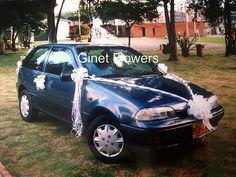 Decoraci n en mo os para carro novia ideas para and wedding - Decoracion coche novia ...