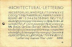 Architectural Lettering by dlofink, via Flickr Hand Lettering Alphabet, Cool Lettering, Types Of Lettering, Typography Letters, Brush Lettering, Architectural Writing, Architectural Lettering, Stencil Font, Letter Stencils