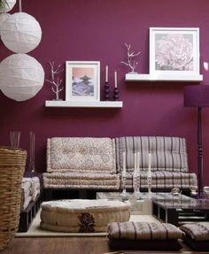 Like the wall color. And the furniture. Don't like those big balls. Here are least.