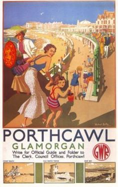 A great range of vintage poster prints, including British Railway, Military and Political Posters, Travel and airline posters from around the world and some of the most famous and infamous movies. Posters Uk, Train Posters, Railway Posters, Beach Posters, Retro Posters, British Travel, British Seaside, Nostalgia, South Wales