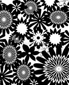 Black and White Toile Pattern #1:Saundramylesart