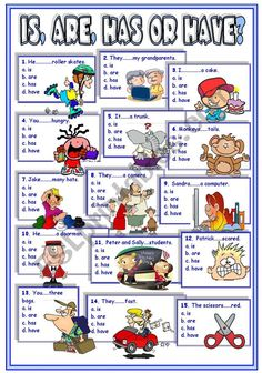 a worksheet on verb to be vs. verb to have English Speaking Skills, English Teaching Materials, Learning English For Kids, Teaching English Grammar, Kids English, English Reading, English Language Learning, English Writing, Education English